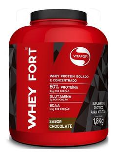 Whey Fort Vitafor 1800g - Whey Protein Premium - Chocolate