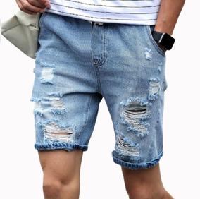 Kit 10 Pçs Atacado Revenda Bermudas Jeans Rasgadas Destroyed