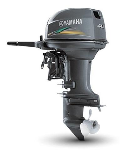 Imagem 1 de 5 de Motor De Popa 40 Yamaha Amhs Partida Manual Com Manche