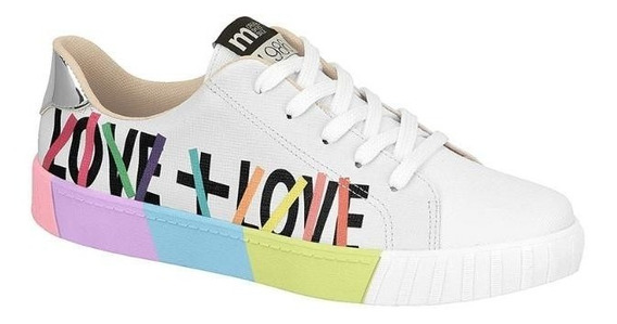 Tenis Feminino Moleca 5645.408 Love Branco
