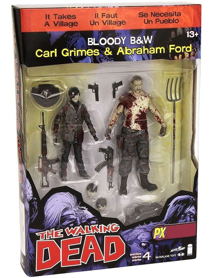 The Walking Dead Bloody Carl Grimes & Abraham