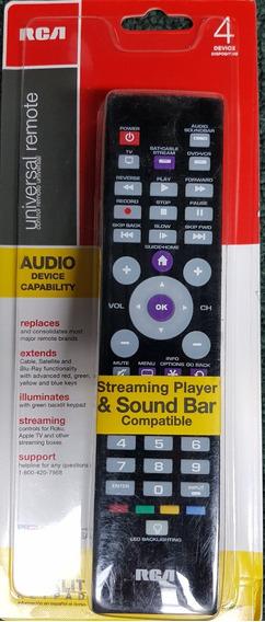 Control Remoto Universal 4 Disp. Con Streaming Media Rca