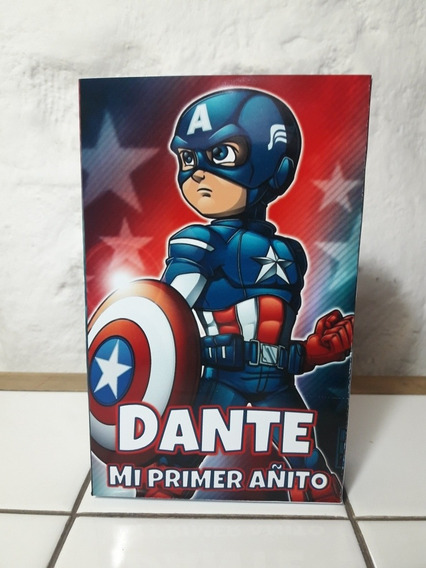 10 Bolsitas Cumpleaños Personalizadas Capitan America