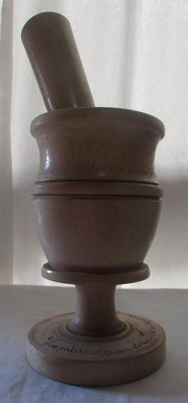 Antigo Pilão Com Socador Em Madeira Teresina Piauí - A28