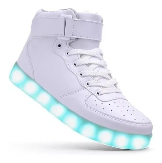Tenis Zapatos Luces Led Envío Inmediat Usb Garantia 3 Meses