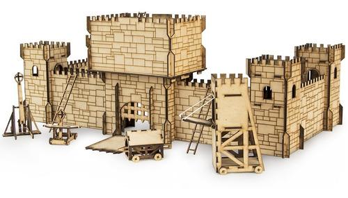 Castillo Fuerte Medieval Fibrofacil + Todos Accesorios Flex