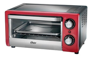 Horno eléctrico Oster Compact TSSTTV10L Rojo 220V