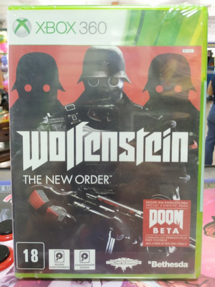 Wolfenstein The New Order Xbox 360 Mídia Física Novo Lacrado