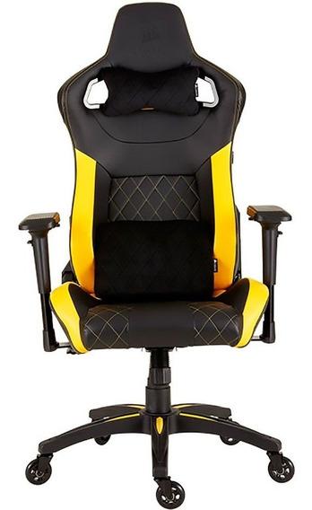 Cadeira Gamer Corsair Até 120kg Cf-9010015-ww Preta/amarela