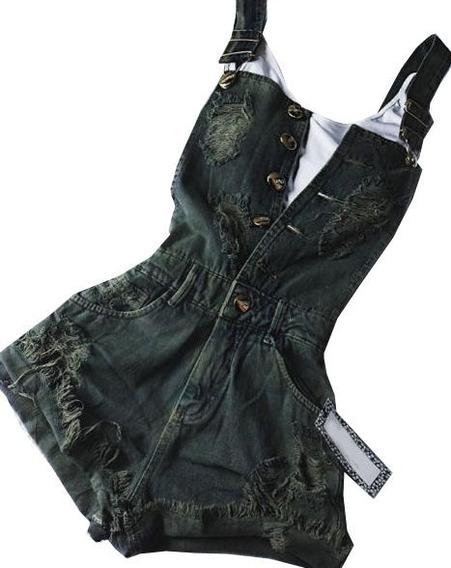 Jeans Jardineira Verde Jeans Enviamos Em 2 Dias ***