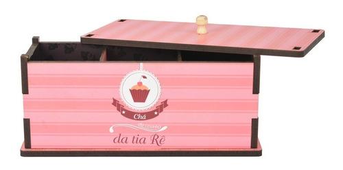 Imagem 1 de 2 de Caixa Para Chá Personalizada Cupcake