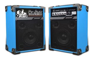 Parlante Activo + Pasivo 2 Usb Sd 2 Mic Karaoke + Bluetooth