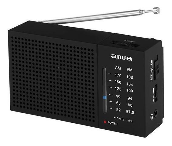 Rádio Portátil Am Fm Aiwa Aw Lr234am-fm 0.3 Watts Rms Pilha