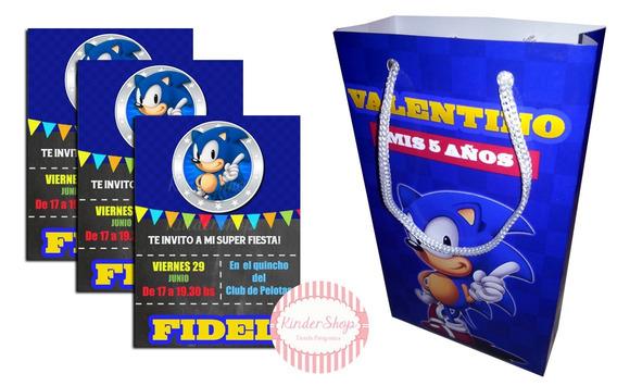 Tarjetas De Cumpleaños Infantiles Sonic Souvenirs