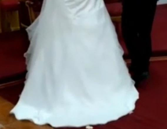 Vestido De Novia Color Marfil,de Casa Blanca Impecable