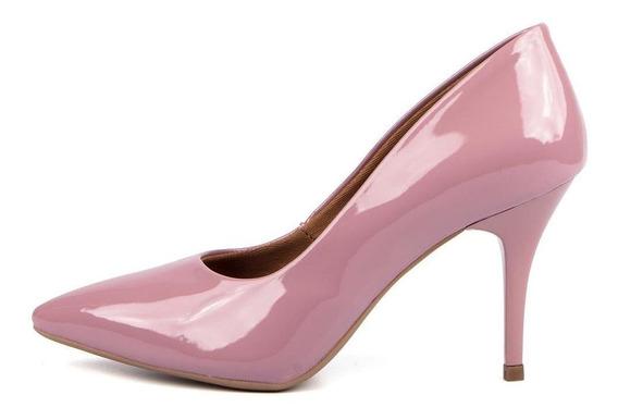 Scarpin Verniz Di Scarp Feminino Salto Médio 7,5cm Glamour