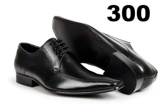 Sapato Social Masculino De Amarrar Couro Sola Couro Bigioni