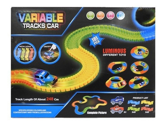 Pista Flexible Con Luz 181 Pcs + 1 Auto 1830831