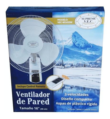 Ventilador De Pared Supreme Vec De 16 PuLG Control Remoto
