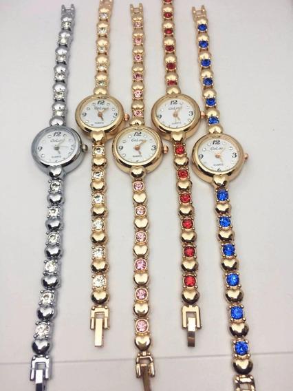 Relógio De Pulso Feminino Fino De Luxo Golou