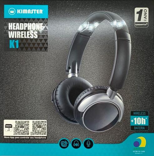 Imagem 1 de 7 de Fone De Ouvido Original Kimaster Bluetooth  - Nf E Garantia