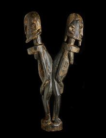 Escultura Africana Da Etnia Dogon - Autêntica E Antiga