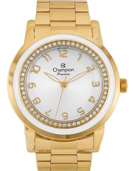 Relógio Feminino Champion Passion Cn29963h Dourado