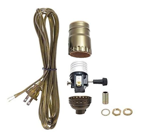 Lámpara De Latón Antiguo Juego De Cables Y Accesorios Básico