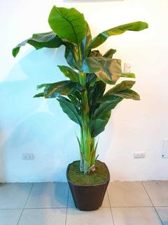 Planta Artificial Bananera Maceta Rustica