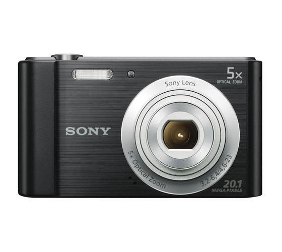Câmera Sony Dsc W800 Tela 2.7 Zoom 5x 20.1 Mp Black + Cartão