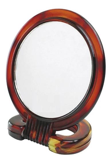 Kit 6 Espelho De Mesa Aumento 3x Dupla Face Plástico Atacado
