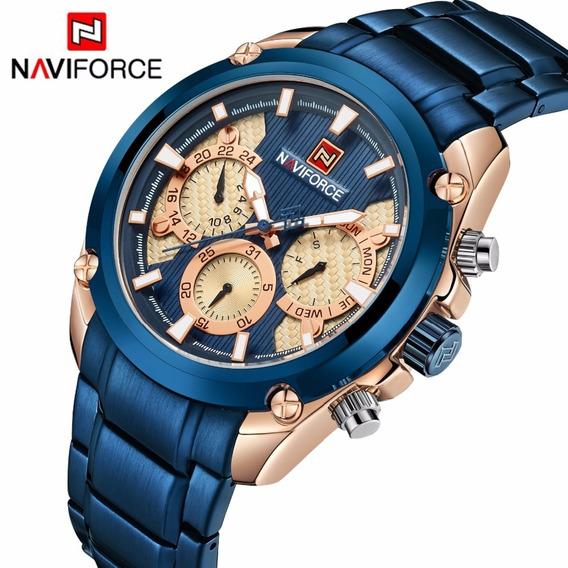 Relógio Naviforce Original 9113 Masculin Analógico Funcional
