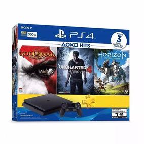 Playstation 4 Slim 500gb + 5 Jogos - 3 Anos De Garantia