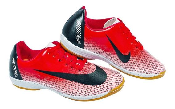 Chuteira Futsal Salão Quadra Cr7 Nova Costurada E Colada