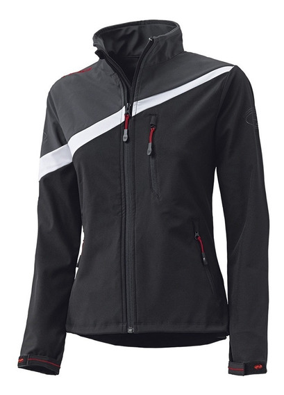 Campera Mujer Lady Moto Held Ray Softshell Gris Repele Agua Viento