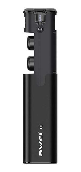 Fone Ouvido Awei T8 Fone Bluetooth Case Carregador Original