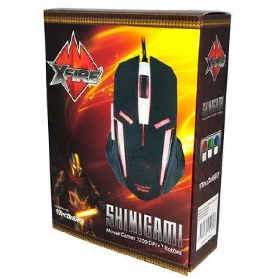 Mouse Gamer Tecdrive Xfire Shinigami 3200 Dpi 7botões Vermel