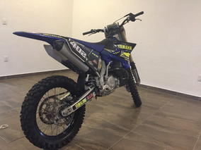 Motocross Yamaha 2 Tiempos Negro Con Azul