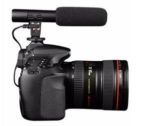 Microfone Estéreo Profissional Câmera De Vídeo Dslr P2 3,5mm
