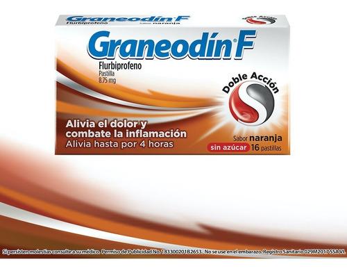 Graneodín F, Sabor Naranja, Caja Con 16 Pastillas
