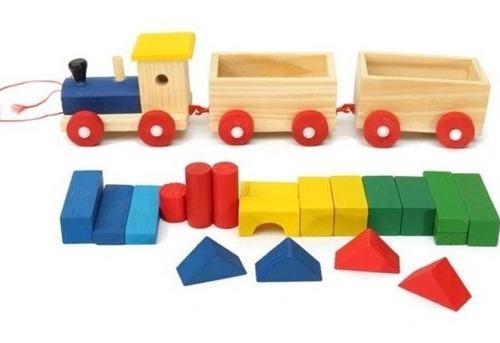 Imagen 1 de 2 de Tren De Madera De Juguete