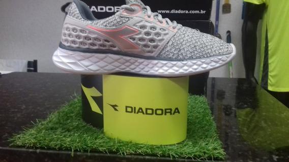Tenis Diadora React Grey/coral