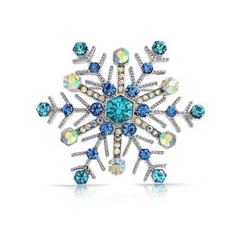Bling Joyería Simulada Cristal De Zafiro Del Copo De Nieve P