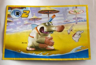 Kinder Mision Topos 2 - 2s-110 Tiburon Cartina Original