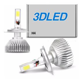 Par Lâmpada Super Led 3d Headlight H4 6000k 40/50w 12v