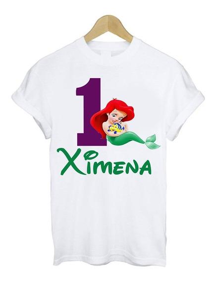 venta al por mayor marcas reconocidas variedad de diseños y colores Playera De Sirenita Personalizadas en Mercado Libre México