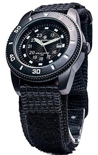 Relojes De Pulsera,reloj De Pulsera De Nailon Negro Sww-..