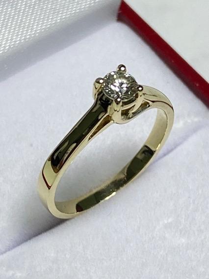 Anillo De Compromiso Diamante Natural 0.23ct
