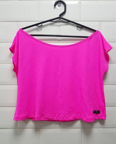 Cropped Fitness Pink Neon