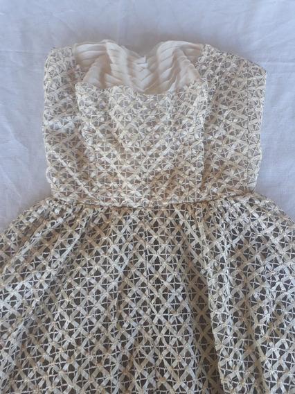 Vestido Vintage Tomara Que Caia Feito Com Fitilho E Renda